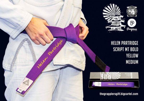 Custom BJJ Purple belt